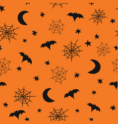 Seamless halloween background pattern with vector
