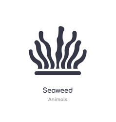 Seaweed icon isolated icon from animals vector