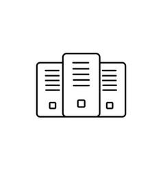 Servers icon vector