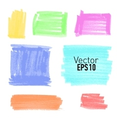 Set of colored paint stains for your design vector