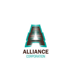 sign for alliance corporation vector image