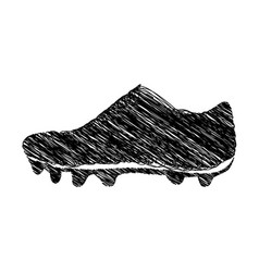 Silhouette drawing sneakers sport shoes vector