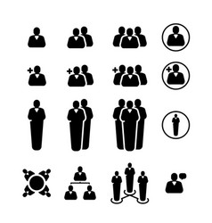Simple set business people related black icons vector
