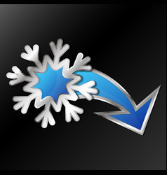 snowflake for air conditioning vector image