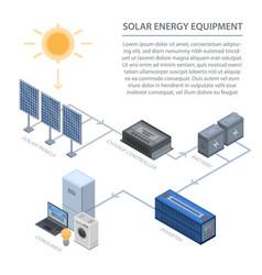 solar energy equipment infographic isometric vector image