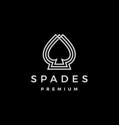 spades logo icon vector image