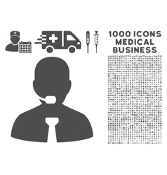 Support Chat Icon with 1000 Medical Business vector image
