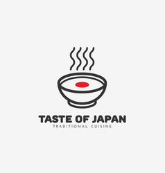 Taste of japan logo vector