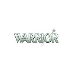 Warrior lettering in modern logo design vector