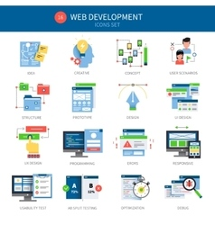 Web Development Icon Set vector