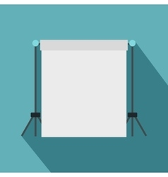 White studio backdrop icon flat style vector