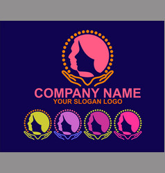 Woman and man silhouette logo vector