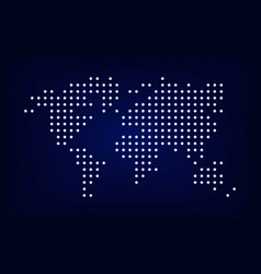 world map dotted style vector image