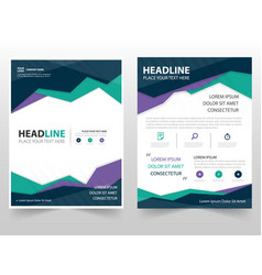 colorful triangle geometric leaflet brochure vector image vector image