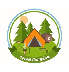 Forest Camping emblem vector image vector image