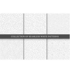 hand drawn seamless curly patterns vector image vector image