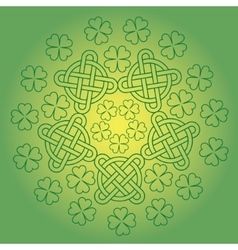 St Patrick s day background with knot ornament and vector image vector image