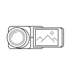 Video camera line art simple gadget icon vector