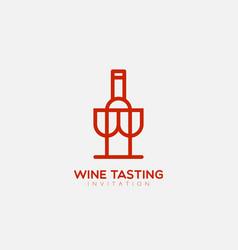 wine tasting logo vector image
