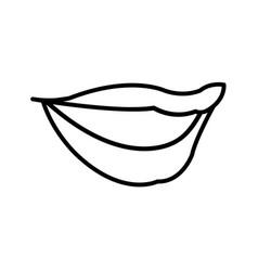 woman lips sensual comic style outline vector image