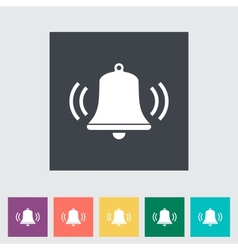 Bell flat icon vector