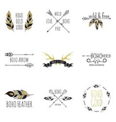Boho Logo Set vector image