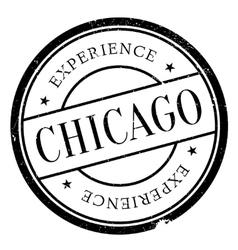 Chicago stamp rubber grunge vector