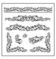 Flower ornament pattern vector