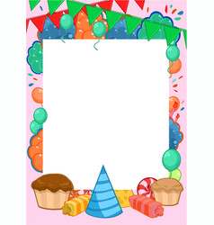 happy birthday invitation bright template vector image vector image