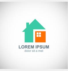 home concept design logo vector image