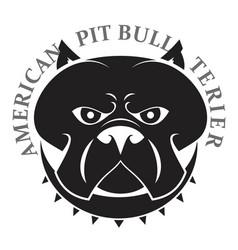pit bull head vector image