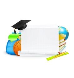 School banner vector image vector image