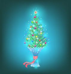 small fir as a gift vector image