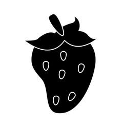 Strawberry fruit nutrition pictogram vector