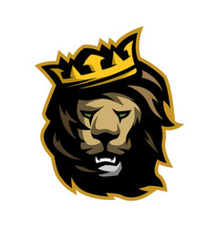 the lion king with a crown vector image vector image