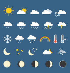 weather icon collection vector image