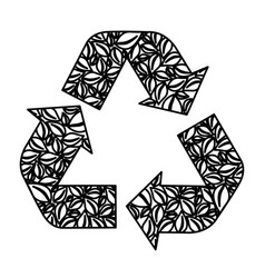 figure symbol reuse reduce and recycle icon vector image vector image