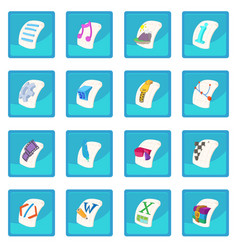 file type icon blue app vector image