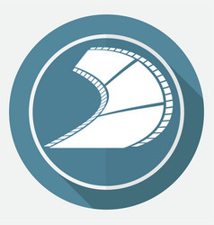 icon film on white circle with a long shadow vector image