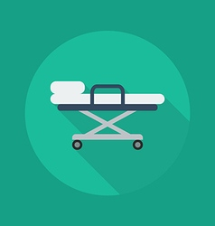 Medical Flat Icon Stretcher vector image vector image