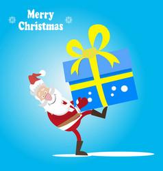santa and a great gift vector image vector image