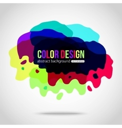 Abstract colorful background Splotch creative vector image