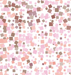 Mosaic pink seamless pattern on white background vector image vector image
