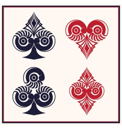 Playing Card Circle Style vector image vector image