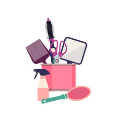 professional hairdresser tools barber fashion vector image vector image