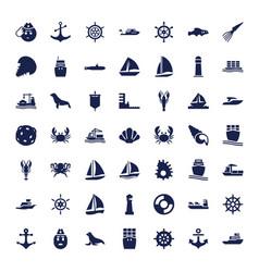 49 marine icons vector