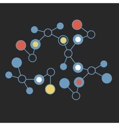 Abstract geometric lattice molecules on same vector image