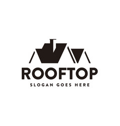 Abstract house roff logo rooftop icon vector