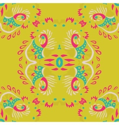 Abstract seamless pattern on yellow background vector image