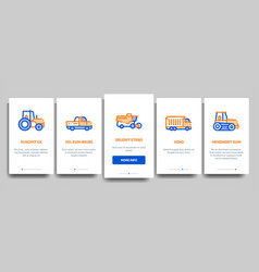 agricultural vehicles onboarding vector image